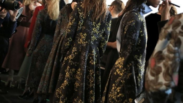 Marni's show backstage in Milan