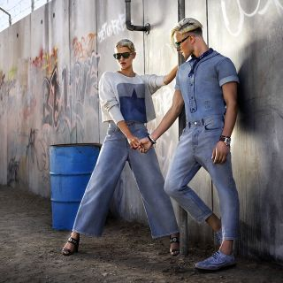 Revolution, one new denim at the time. #MakeLoveNotWalls #Diesel #SS17